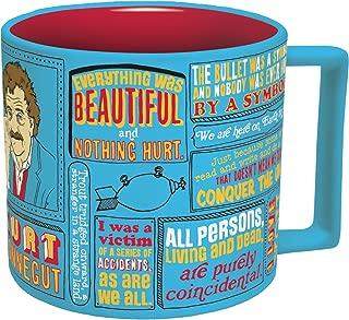 The Unemployed Philosophers Guild Kurt Vonnegut Mug, Blue, 14 ounce