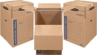 Sponsored Ad - Bankers Box SmoothMove Wardrobe Moving Boxes, Short, 20 x 20 x 34 Inches, 3 Pack (7710902)