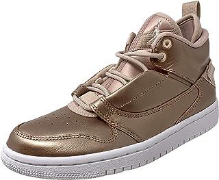 Jordan Girls Fadeaway SE Trainers Metallic High Top Sneakers