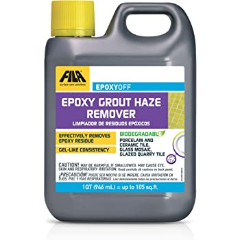 Fila Epoxyoff Epoxy Grout Haze Remover Effectively Removes Epoxy Residue The Product Can Be Applied On Vertical Surfaces 1 Qt Amazon Com