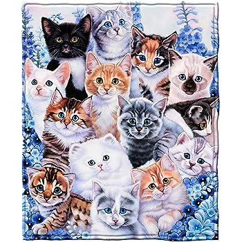 Cats Selfie Fleece Throw Blanket DH-821