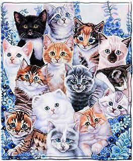 Dawhud Direct Kitten Collage Fleece Throw Blanket by Jenny Newland