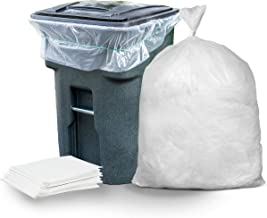 """Plasticplace 95-96 Gallon Garbage Can Liners │ 1.5 Mil │ Clear Heavy Duty Trash Bags │ 61"""" X 68"""" (25Count)"""