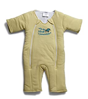 Baby Merlin's Magic Sleepsuit - Swaddle Transition Product - Cotton - Yellow - 3-6 months
