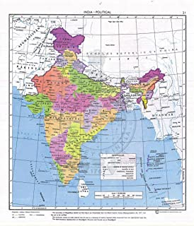 Gifts Delight Laminated 24x28 Poster: Political Map - Maps of India Detailed map of India in English Tourist map of India Road map of India