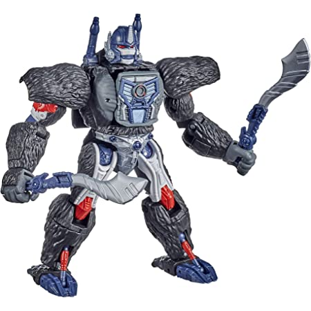 Transformers Toys Generations War for Cybertron: Kingdom Voyager WFC-K8 Optimus Figura de acción Primal – niños de 8 años en adelante, 7 Pulgadas