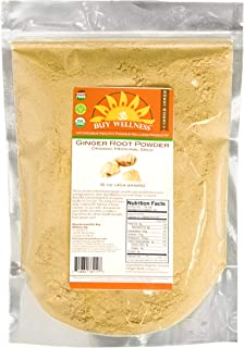 Buy Wellness Ginger Ground Organic GINGER ROOT Powder FRESH Pure flavorful Non Chinese Ginger HIGHEST Quality, 1 LB
