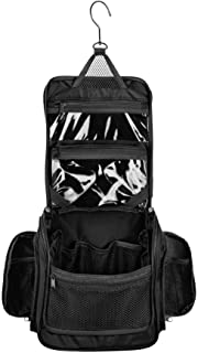 Neatpack Medium Size Hanging Nylon Toiletry Bag & Organizer with Detachable TSA Compliant Zipper Pocket and Swivel Style H...