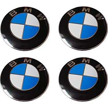 36136850834 small SET of 4 NEW VERSION Genuine BMW Centre Cap Badge Emblems