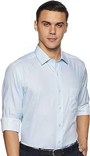 Arrow Men's Printed Slim Fit Formal Shirt, Blue