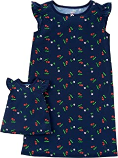 Carter's Girls' 4-14 Jersey Gown and Doll Dress Set (2-3/Cherries)