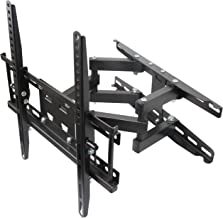 "Husky Mounts Most 32-55 Inch Dual Arm Full Motion TV Wall Mount. 66 Lbs Capacity. Tilt Swivel Articulating TV Bracket. Most 32 37 39 40 42 46 47 50 52 55"" LED LCD Flat Screen. Vesa TV Mount 400x400"
