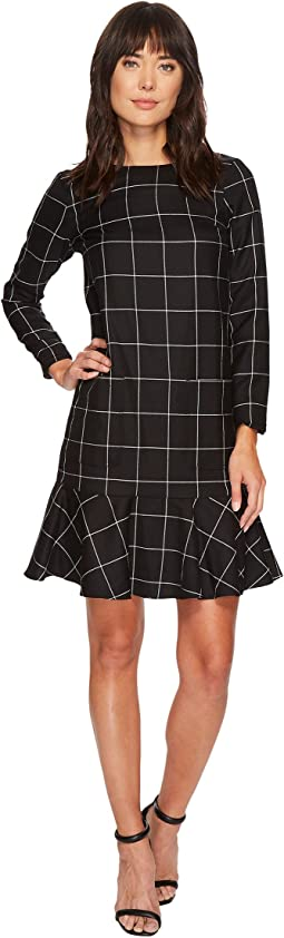 Pendleton - Ruffle Hem Wool Dress