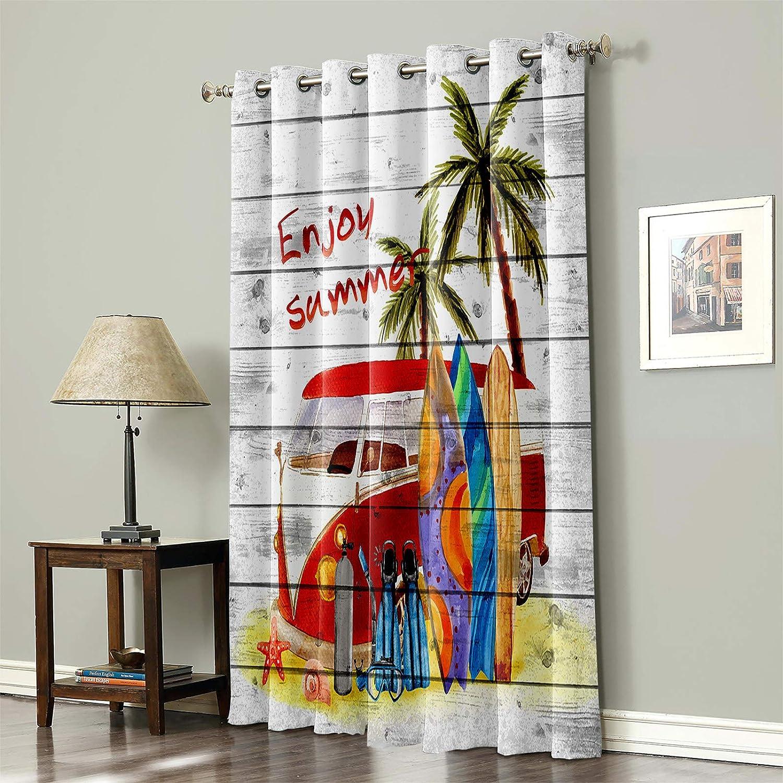 Blackout Curtain for Popular brand in the world Bedroom Enjoy Plam Summer Surfboard Tree 5 popular T