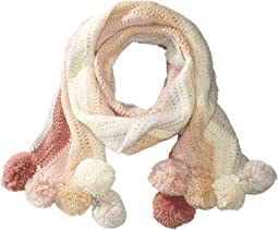 BCBGMAXAZRIA - Crochet Stripe Pom Muffler