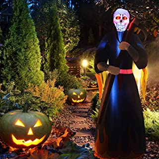 ANOTHERME 8 Feet Halloween Inflatable Lighted Ghost Air Blown Decor, Outdoor Indoor Holiday Party Favor Decoration