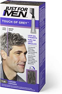 Just For Men Touch Of Grey Tinte Gradual Que Reduce Parcialmente Las Canas Castaño. Look Sal Y Pimienta