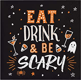 Eat Drink and Be Scary Beverage Napkins, 48 ct