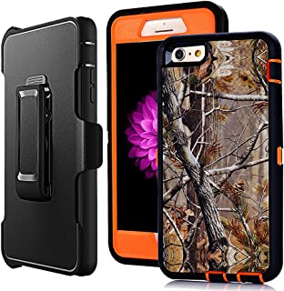 iPhone 6 Kickstand Case,Defender iPhone 6s Cover,Harsel Heavy Duty Shockproof Camo Pink Tree Woods Full Body Rugged Hybrid Protection Cover Case w/Screen Protector & Belt-Clip for iPhone 6/6s 4.7