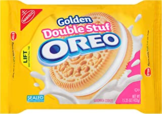 Oreo Golden Double Stuf Sandwich Cookies, 15.25 Ounce