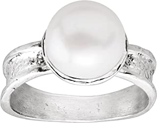 Simply You' 10 mm Freshwater Cultured Pearl Ring in Sterling Silver