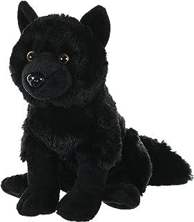 Wild Republic Wolf Plush, Stuffed Animal, Plush Toy, Kids Gifts, Black, 30cm