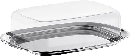 Preisvergleich für WMF Butterdose, mit Kunststoffhaube, Cromargan Edelstahl poliert, spülmaschinengeeignet, 17,5 x 11,5 cm