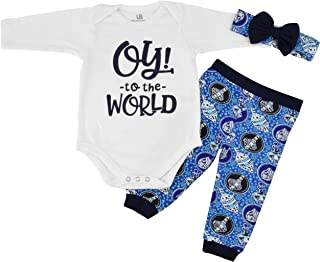 Girls Oy! to The World Hanukkah Layette Outfit Headband
