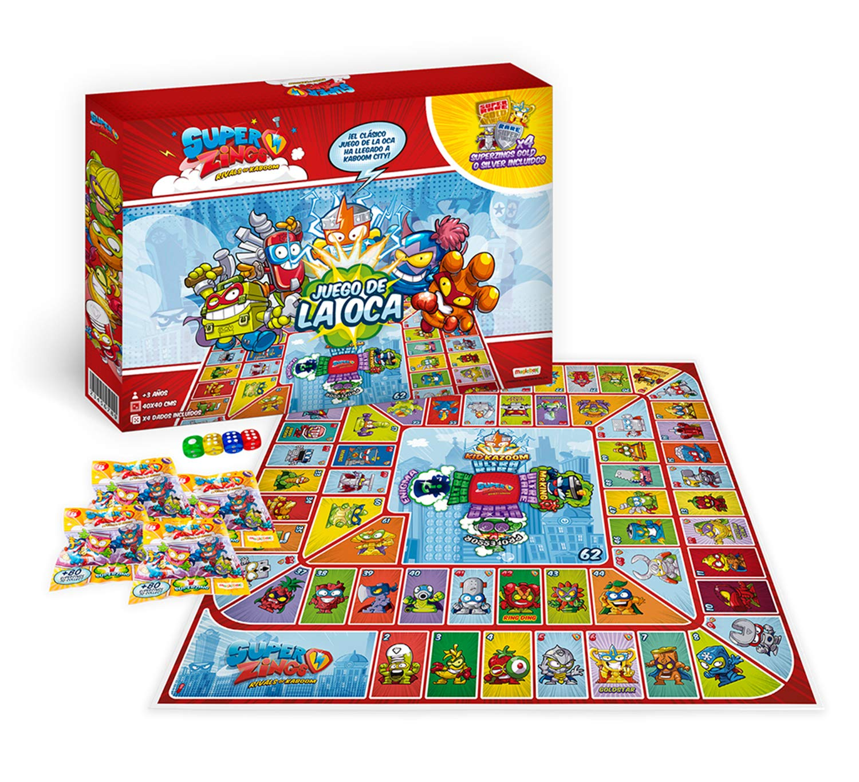 Súperzings Exclusivo Juego de la Oca, Color Rojo 1: Amazon.es: Juguetes y juegos