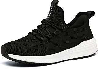 IPETSUN Women's Running Tennis Shoes - Lightweight Non Slip Breathable Mesh Sneakers Sports Athletic Work Shoes