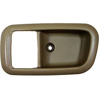 Inside Interior Inner Door Handle PT Auto Warehouse TO-2950E-RL Beige Driver Side Rear - Access Cab Fawn