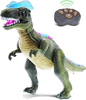 Mozlly Remote Control Dinosaur T-Rex Walking Big Rc Dino With Realistic Move Walk Action Figure Tyrannosaurus Rex Robot Di...