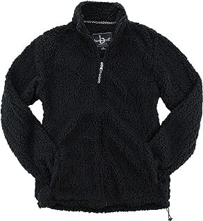 Adult Full Zip Sherpa Pullover-Black-XXXL