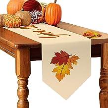 "Yone Thanksgiving Holiday Table Runner Thanksgiving Table Runner for Fall Table Runner 72"" × 13"" + Maple Leaf 50 PCS"