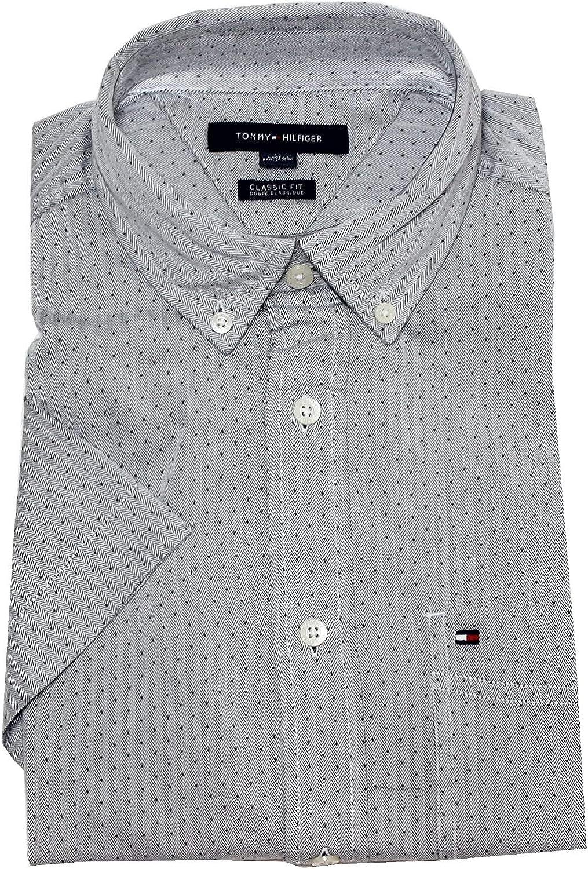 Tommy Hilfiger Men's Classic Fit Short Sleeve Buttondown Shirt