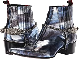 Sylvian Tooled Spur and Chain Chelsea Boot
