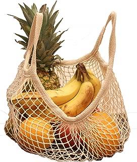 EuroSac Natural Cotton String Bag (3, Short Handle)