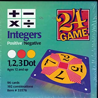24 Game 96-Card Deck: Integers Math Card Game