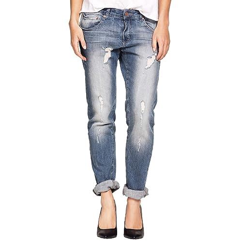 ac88e16592c Ellos Women s Plus Size Boyfriend Jeans