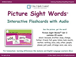 Picture Sight Words™ Flashcards with Audio - Set 3: I See, I Spell, I Learn® - Literacy, Reading & Spelling Program