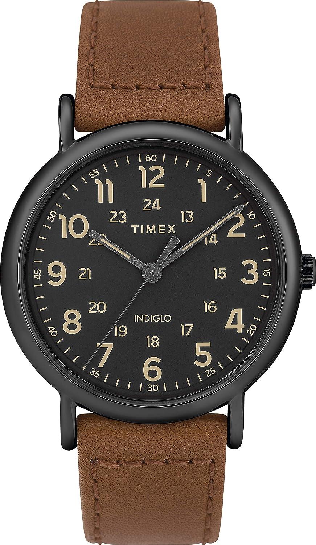 Timex Reloj Analógico-Digital para Unisex Adultos de Cuarzo con Correa en Cuero