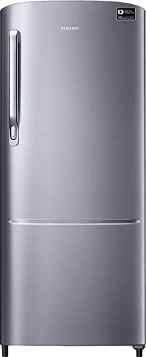 Samsung 192 L 3 Star Inverter Direct-Cool Single Door Refrigerator (RR20T172YS8/HL, Elegant Inox) 1