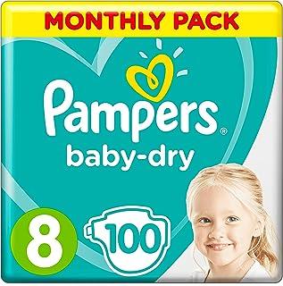Pampers 81664584 pañal desechable Niño/niña 100 pieza(s) - Pañales desechables (Niño/niña, Tape diaper, 17 kg, Multicolor, Velcro, 12 h)