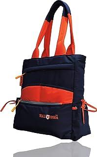 WILDMODA Women's Shoulder Bag (WM-OLD-2_Blue & Orange)