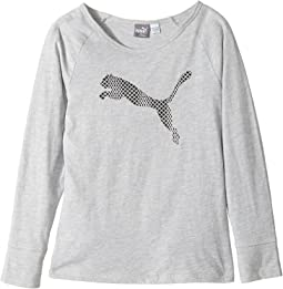 Puma Kids - Long Sleeve Cotton Tee & Headband (Big Kids)