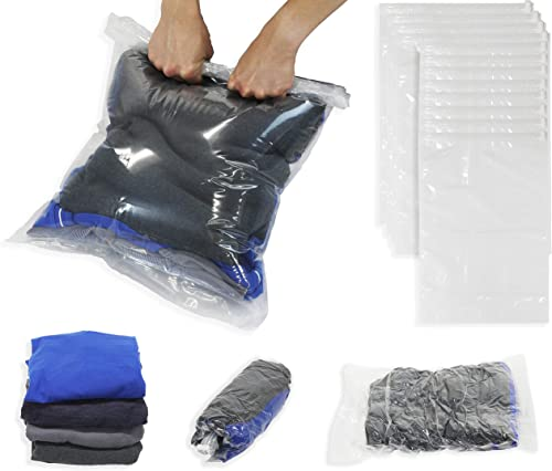 wholesale Simple discount Houseware 12-Pack Travel Organizer Compression Bags for Clothes (No Vacuum or Pump outlet sale Needed) sale