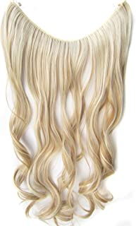 Simpleyourstyle 22inch / 55cm One Piece Curly Synthetic FISH LINE HAIR Extension Flip in #f18/613
