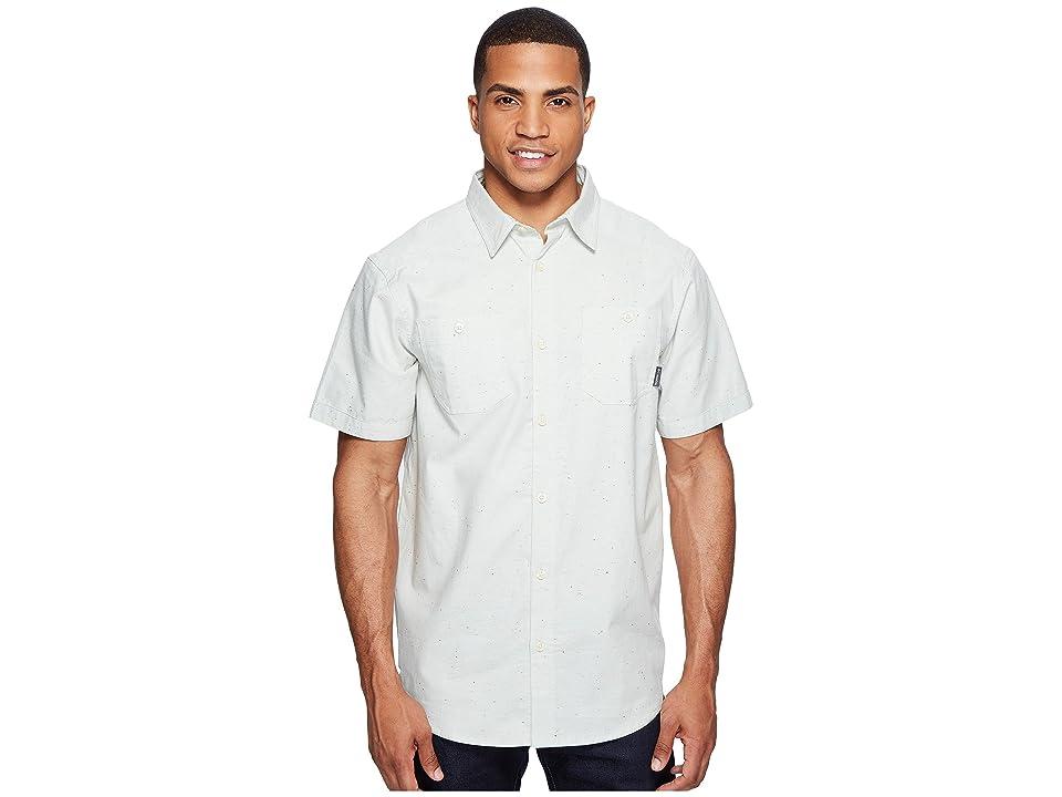 Columbia Sage Butte Short Sleeve Shirt (Cool Green Neps) Men