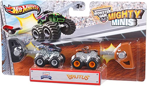 Hot Wheels - Monster Jam Mighty Minis - Lucas Crusader Und Brutus