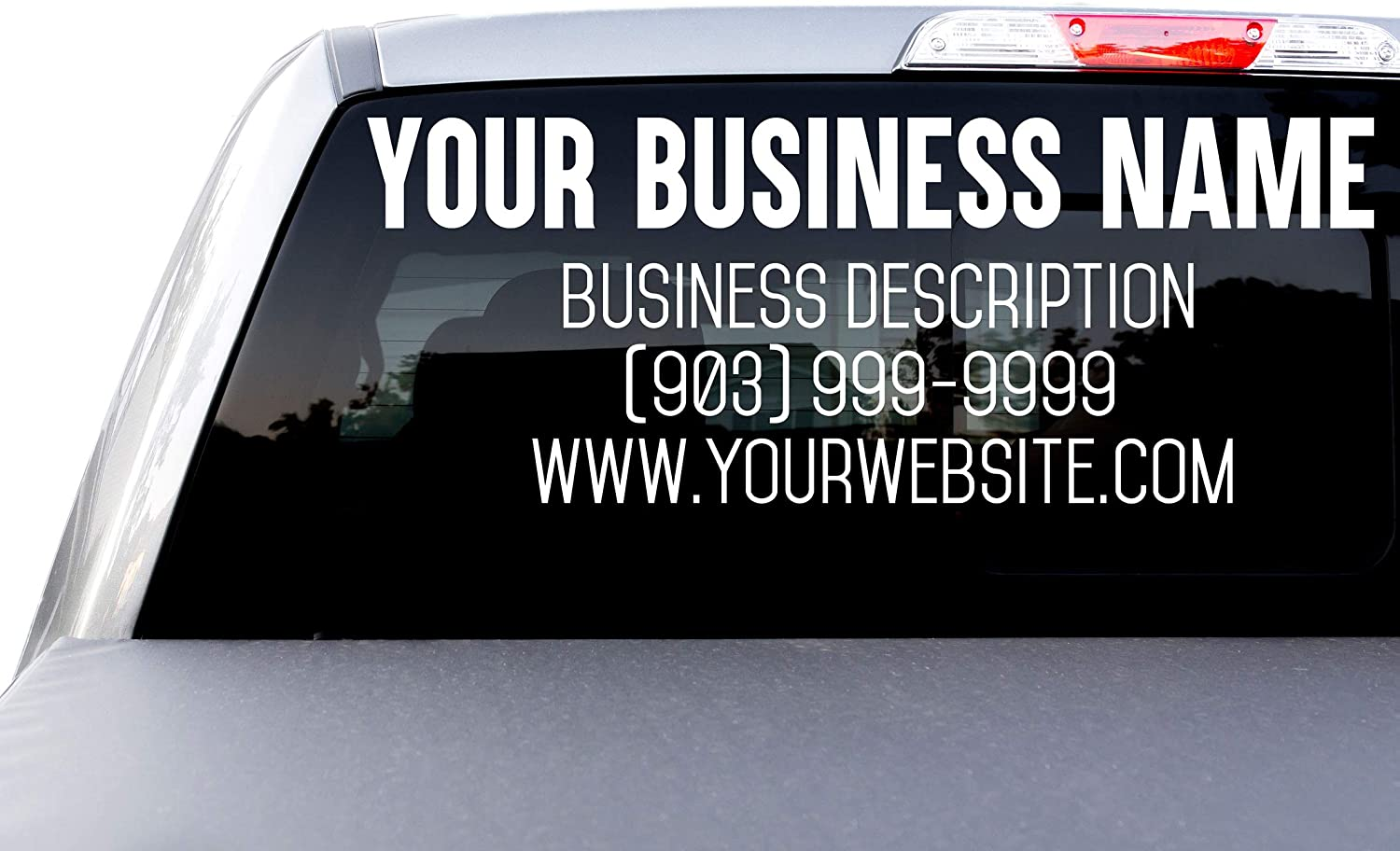 OFFer Large Custom Japan's largest assortment Business Name and Description Website St Text Decal